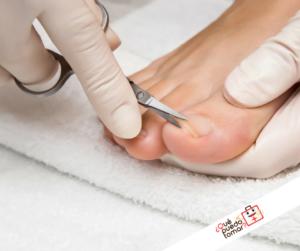 Infección en la uña del pie