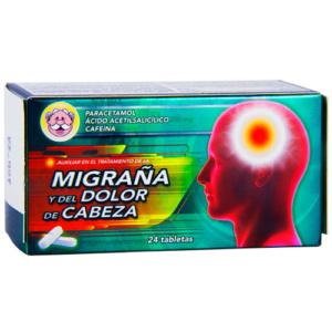 Paracetamol, ácido acetilsalicílico y cafeína tabletas