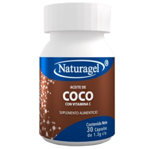 Cápsulas de aceite de coco suplemento
